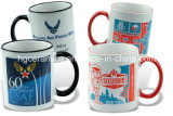 Borda da caneca, da cor 11oz & do punho do Sublimation a caneca da foto, caneca do tom do Sublimation dois