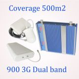 2g&3G se doblan aumentador de presión de la señal de los teléfonos celulares del aumento de la venda 65dB con los surtidores omnidireccionales de la antena del techo de la bóveda 5dB