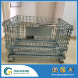 Contenitore pieghevole della rete metallica del magazzino accatastabile per la gabbia giapponese