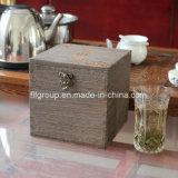 Rectángulo de empaquetado impreso insignia modificado para requisitos particulares del vino de madera con diverso acabamiento