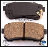 Garnitures de frein en gros pour l'accent de Hyundai pour la garniture de frein de pièce de véhicule de KIA Rio5 D1157