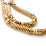 Orecchini di goccia lunghi placcati oro semplice della catena del metallo per le donne