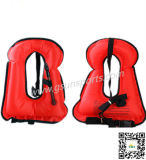 Chaleco inflable portable del tubo respirador del chaleco salvavidas de la lona de los niños