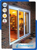 Pvc/UPVC/Plastiek die de Dubbele Deur van het Glas voor Binnenlands glijden of Buiten