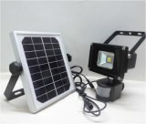 10W IP65 impermeabilizan la luz de inundación recargable accionada solar portable de Refletor que acampa LED