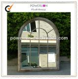 Espejo gris rústico del jardín del arco del marco del metal