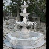 Fontana bianca Mf-114 di Carrara della fontana della pietra della fontana della fontana di marmo del granito