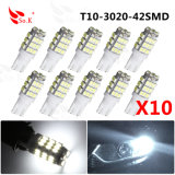 Luce auto dell'automobile di T10 42SMD 3020 DC12V LED