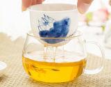 Schöner Blumen-Entwurfs-Glastee-Cup