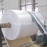 Tissu tissé blanc de polypropylène de la Chine pour faire des sacs