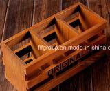 Elemento portante di legno naturale del vino della Due-Bottiglia