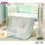 Комплекты 100% постельных принадлежностей младенца вышивки хлопка