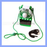 3.7V 0.06A Solar Powered Air Cooling Fan mit Stand Mini Rechargeable Table Stand Fan
