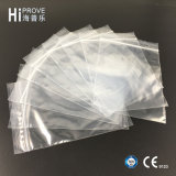 Ht-0886 Grip Seal Bags com Write on Panel Self Seal Resellable Clear Polythene Plastic