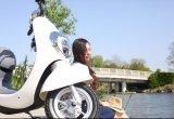 Самокат удобоподвижности конструкции патента Aima электрический с мотором 800W Bosch