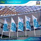 Bandeira feita sob encomenda gigante do poliéster para o anúncio ao ar livre com certificações SGS/En71 (J_NF02F06003)