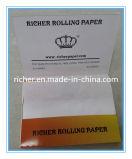 Aduana 1 1/4 papel de balanceo de papel del cáñamo de papel de arroz de la talla que fuma