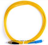 Sm FC/PC-SC/PC G652 Optic Fiber Patch Cord (schakelaar, verbindingsdraadkabel)