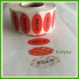 De Duidelijke Sticker van de Stamper van de Prijs van de fabriek met Zelfklevend