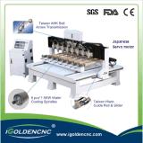 Preço da máquina do CNC da linha central da cabeça 4 de China multi
