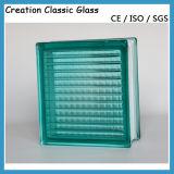 Coloré / Bleu / Rouge / Vert / Clair Bloc de verre à motifs parallèles