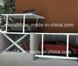 Elevador dobro do estacionamento da plataforma/sistema dobro do estacionamento do carro da plataforma