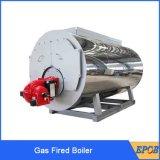 A água quente três do vapor da saída passa ao gás Fuel Oil a caldeira horizontal