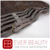 クリップが付いている人間の毛髪の織り方のバージンの自然なブラジルの毛