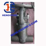 Valvola a saracinesca d'acciaio forgiata saldata ad alta pressione A105 di API/DIN/JIS