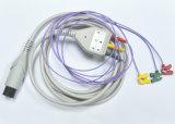3 Leadwires das ligações para crianças Cllip do cabo do tronco de ECG