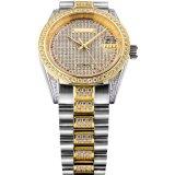 自動動きおよび完全な石が付いている完全な石造りの恋人の宝石類の腕時計
