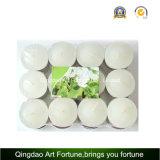 Decoración blanca del hogar del fabricante de la vela de Unscented Tealight de la taza clara