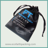Malote relativo à promoção de seda preto da jóia do cetim do Drawstring do saco do presente do cetim