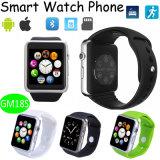 BluetoothのSIMのカードスロット(GM18S)が付いているスマートな腕時計の電話
