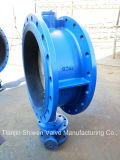 Wcb Ductile Iron Disc Double Flange Butterfly Valve