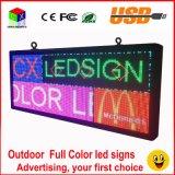 LED Extérieure Pleine Couleur P6 Inscription 40''x18 '' Support de Défilement Texte LED Écran Publicitaire / Affichage D'image Programmable LED
