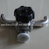De sanitaire Klep van het Diafragma van de Bodem van de Tank van het Roestvrij staal Hand