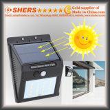 Luz del sensor solar de 20 SMD LED con la función ajustable del brillo (SH-2006A)