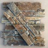 Lockstone Burny Kleber unterstützte Steinform und Ecke des furnier-Blattz