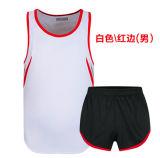 Deportes en blanco de encargo de la ropa atlética unisex respirable que funcionan con los uniformes