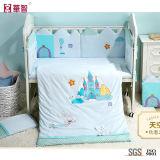 慰める人が付いている養樹園部屋の綿の刺繍の寝具セット