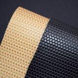 篭織模様袋の革、藤は人工的なPUの革を編んだ