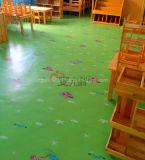 Plancher UV imperméable à l'eau coloré de vinyle de PVC d'enduit d'étage de glissade d'enfants anti