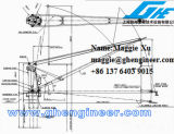 gru idraulica meccanica della piattaforma della chiatta della gru a benna delle corde 40t quattro