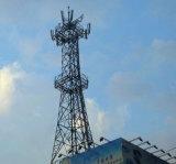 Torretta fornita di gambe dell'acciaio di microonda e di comunicazione di quattro GSM