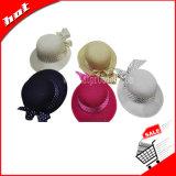 인쇄된 일요일 여자 밀짚 모자