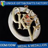 3Dロゴの金属は多彩なリボンが付いているメダル彫版メダルを遊ばす