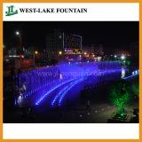 多彩なLED照明および音楽を使って隠されたプールの乾燥した噴水