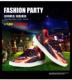 Sek original profesional de la manera que destella zapatos LED, luces de arriba los zapatos ocasionales para los adultos