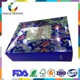 Чувствительная косметическая коробка упаковки бумаги цвета, горячий штемпелевать, выбивая